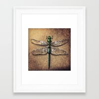 dragonfly Framed Art Prints featuring Dragonfly  by Werk of Art