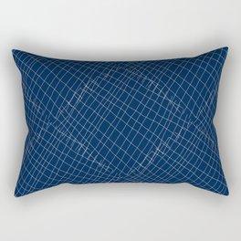 Japanese shibori dark blue indigo sapphire white Rectangular Pillow