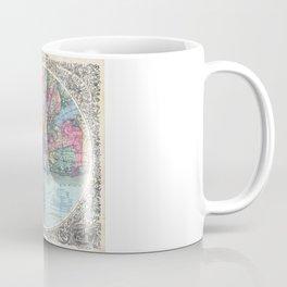 VINTAGE NEW YORK CITY MAP 1879 Coffee Mug