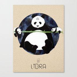 Panda Zodiac Libra Canvas Print