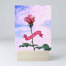 With love Mini Art Print
