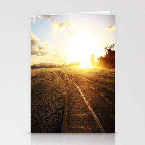 Run into the Sunset Stationery Cards