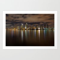 san diego Art Prints featuring San Diego by PuppyPR