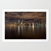 san diego Art Prints featuring San Diego by PuppyPR