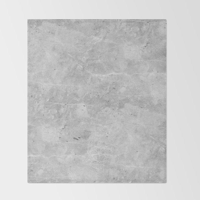 Gray Concrete Throw Blanket