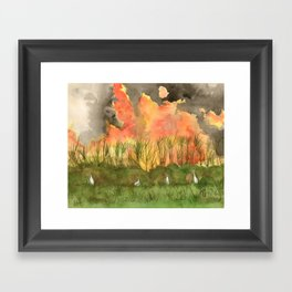 Burning Cane Framed Art Print