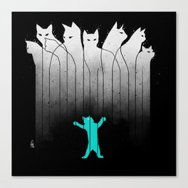 Clowder (White, without lines) Canvas Print