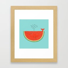 Don't let the seed stop you from enjoying the watermelon Framed Art Print