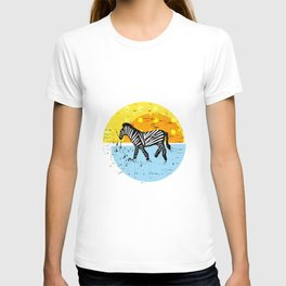 African Zebras – Animal Illustration T-shirt