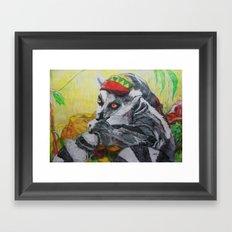 Am I el' Lemur?? or Am I, Yaaaa Man'?? Framed Art Print