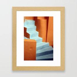 Orange and white Gerahmter Kunstdruck