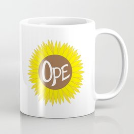 Hand Drawn Ope Sunflower Midwest Coffee Mug