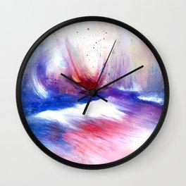 Cloud Shores by Nadia J Art Wall Clock