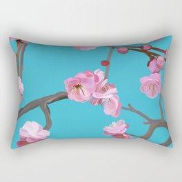 Plum blossom pattern turqouise Rectangular Pillow