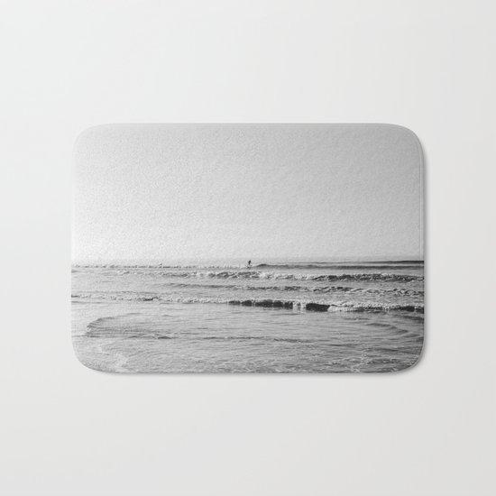 Surfing Monochrome Bath Mat