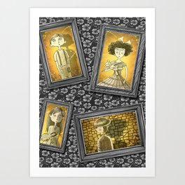 The Children in the Photographs Art Print