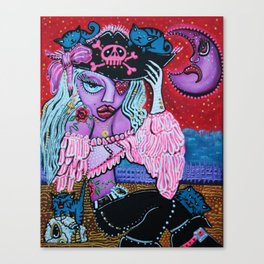 Kitty Cat Buccaneer Canvas Print