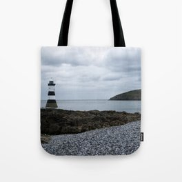 Trwyn Du Lighthouse And Puffin Island Tote Bag