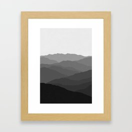 Shades of Grey Mountains Framed Art Print