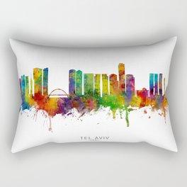 Tel Aviv Israel Skyline Rectangular Pillow