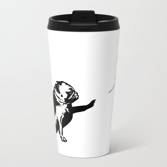 Pugsy Metal Travel Mug