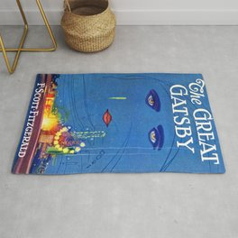 Great Gatsby Book Cover Rug