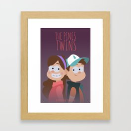 The Pines Twins Framed Art Print