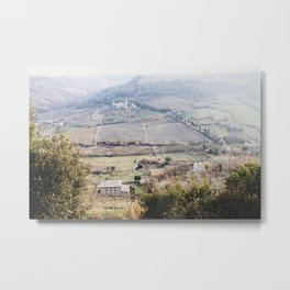 Italian Rolling Hills Metal Print