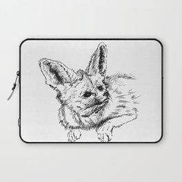 Fennec fox - cute animal print, wall decor, wall art, black and white Laptop Sleeve
