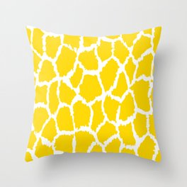 Speckled Yellow White Spot Pattern Throw Pillow