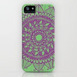 Purple Floral Mandala iPhone Case