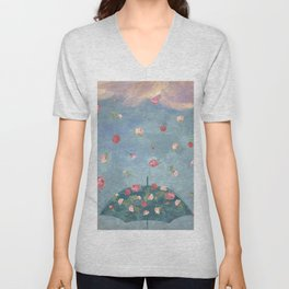 I Wished for a Rose Rain for You Unisex V-Neck