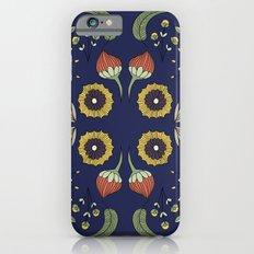 Flora Pattern I Dark Slim Case iPhone 6s