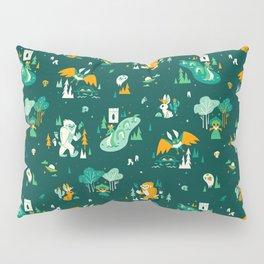 Cryptid Cuties (Bigfoot, Yeti, Jackalope, Mothman, Ghost, Loch Ness Monster) Pillow Sham