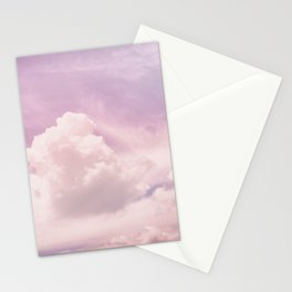 Purple clouds Stationery Cards