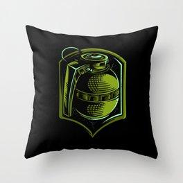 Green Grenade Gift Idea Design Motif Throw Pillow