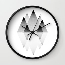 Mountains Lines Wall Clock