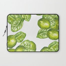 Watercolor Limes and Leaves Laptop Sleeve