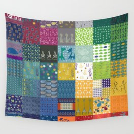 Patchwork from FishCard: 100 images in one Wall Tapestry