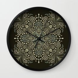 Vintage Flowers and Pearls Wall Clock
