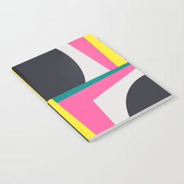 Modern Geometric 65 Pink Notebook