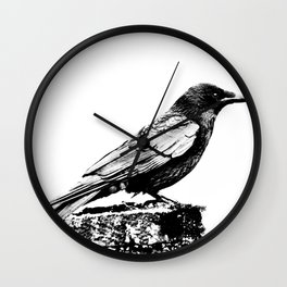 Crow Profile Wall Clock