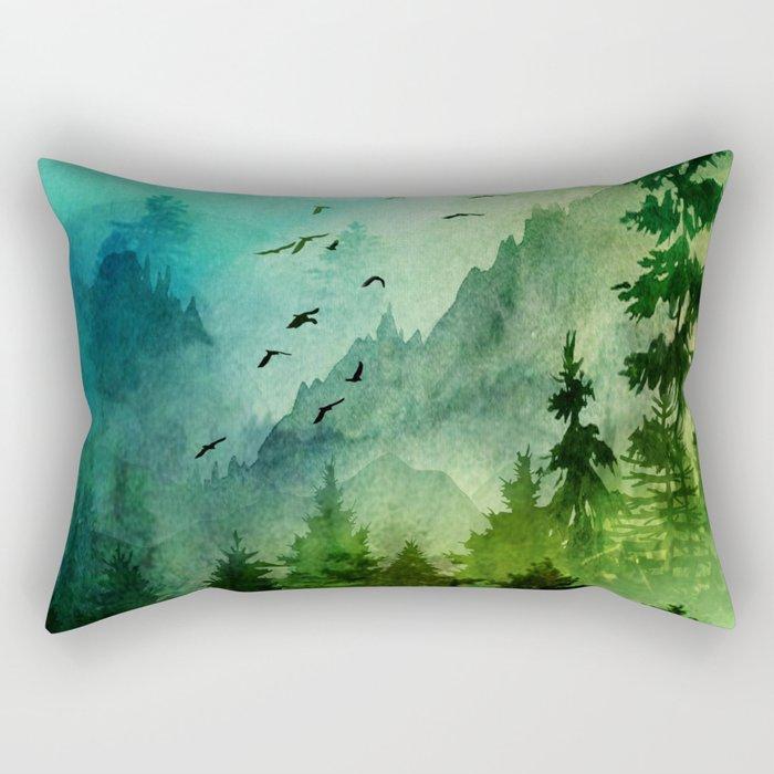 Mountain Morning Rectangular Pillow