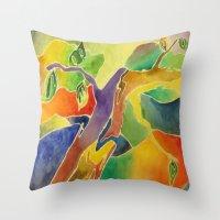 dr seuss Throw Pillows featuring Dr. Seuss Dreams by Lisa Beynon