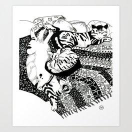 Pasha Cat Art Print