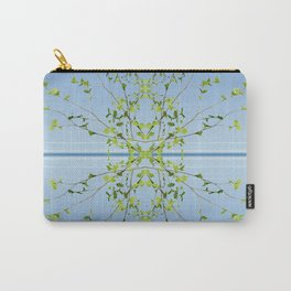 Birch on blue Carry-All Pouch