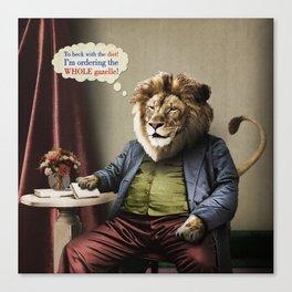 Hungry Lion Canvas Print