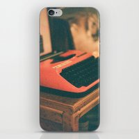 typewriter iPhone & iPod Skins featuring Typewriter by Cheryl Cha-Cyn