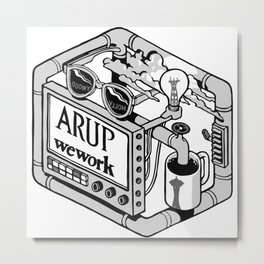 Arup WeWork West Project Patch Metal Print
