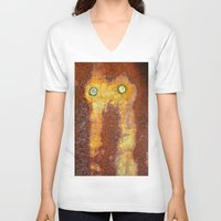 totem V-neck T-shirts featuring Totem by Sheri L. Wright